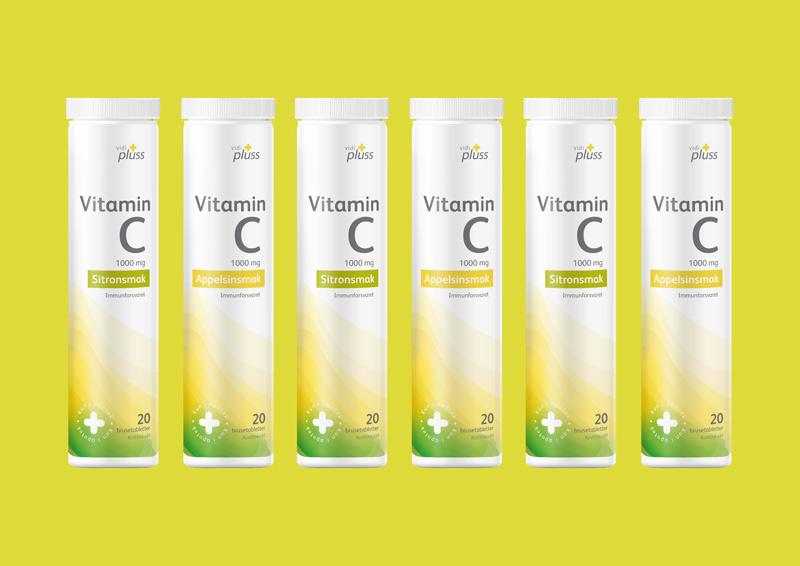 Vidi Plus Vitamin C Packaging
