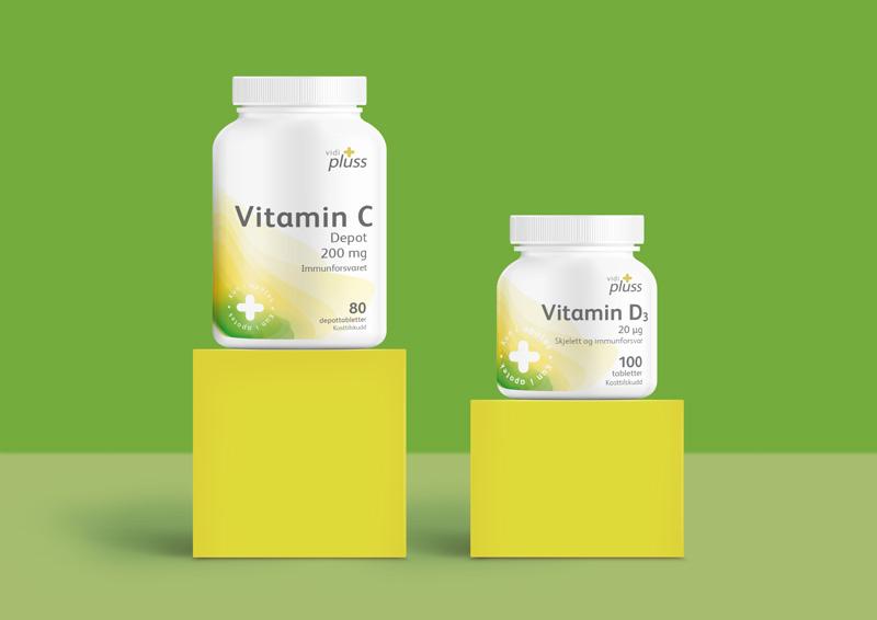 Vidi Plus Vitamin C and D Packaging